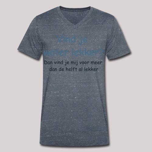 Water - Mannen bio T-shirt met V-hals van Stanley & Stella