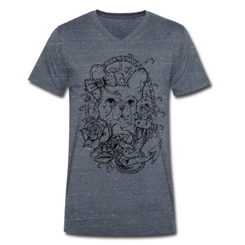 oldschoolgirl png - Männer Bio-T-Shirt mit V-Ausschnitt von Stanley & Stella