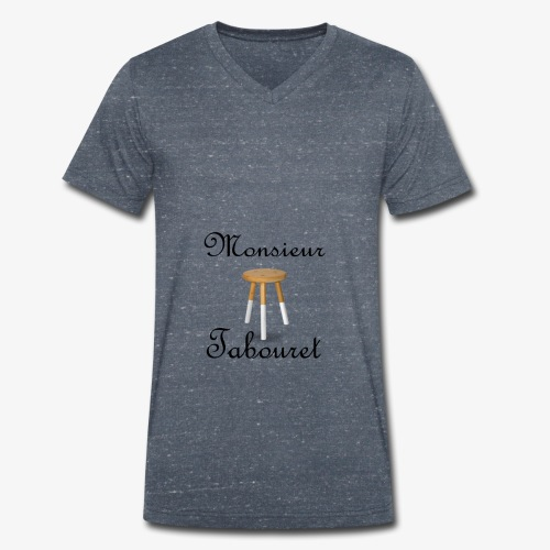 Monsieur Tabouret (Noir) - T-shirt bio col V Stanley & Stella Homme