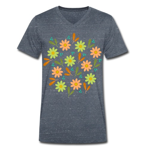 Blumen Muster - Männer Bio-T-Shirt mit V-Ausschnitt von Stanley & Stella