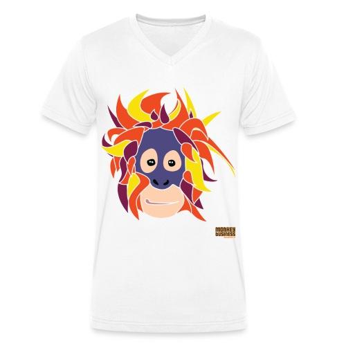 Oppermonkey Illustratie - Mannen bio T-shirt met V-hals van Stanley & Stella
