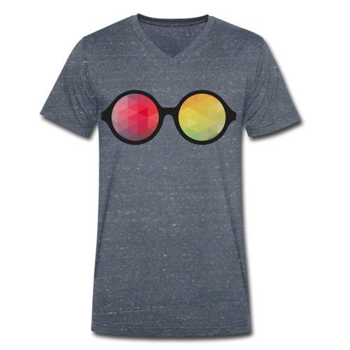 HipsterShades #1 - Økologisk Stanley & Stella T-shirt med V-udskæring til herrer