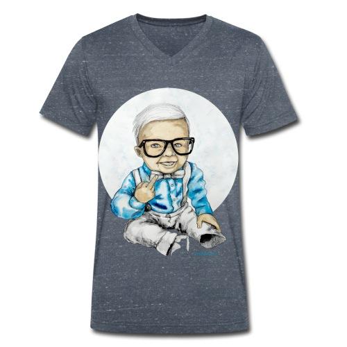 Naughty Boy, carographic - Männer Bio-T-Shirt mit V-Ausschnitt von Stanley & Stella