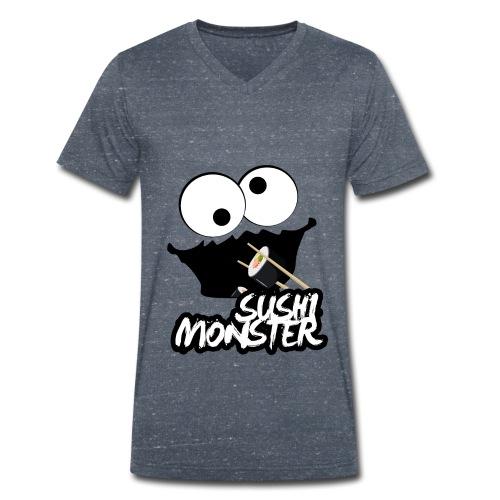 Sushimonster - Mannen bio T-shirt met V-hals van Stanley & Stella