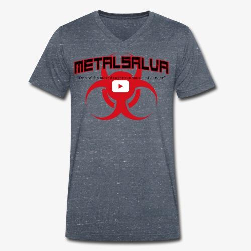 METALSALVA Cancer #1 - T-shirt ecologica da uomo con scollo a V di Stanley & Stella