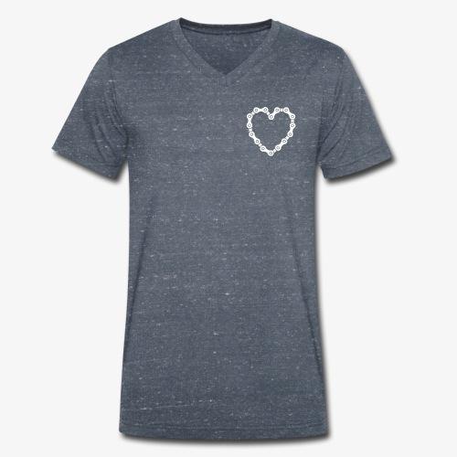 bike love - Men's Organic V-Neck T-Shirt by Stanley & Stella