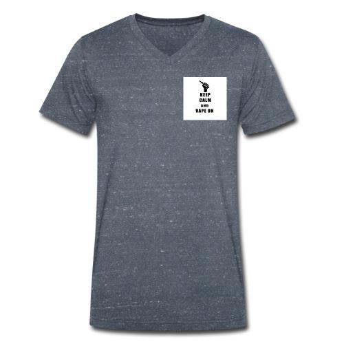keep calm and Vape on - Männer Bio-T-Shirt mit V-Ausschnitt von Stanley & Stella