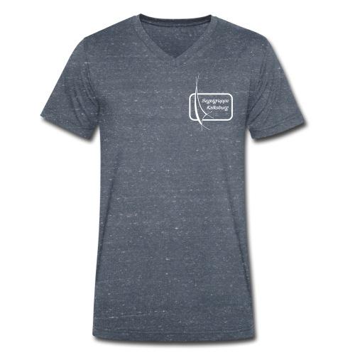 SGK Logo S/W - Männer Bio-T-Shirt mit V-Ausschnitt von Stanley & Stella