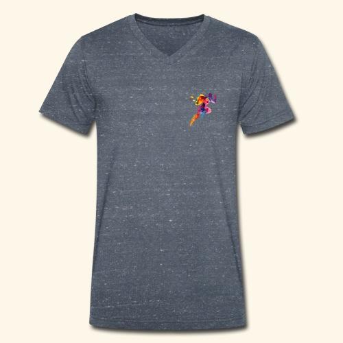 Running colores - Camiseta ecológica hombre con cuello de pico de Stanley & Stella