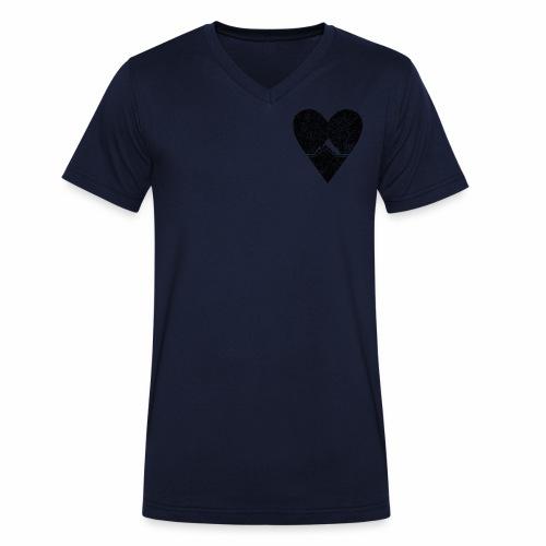 Bergliebe - used / vintage look - Männer Bio-T-Shirt mit V-Ausschnitt von Stanley & Stella