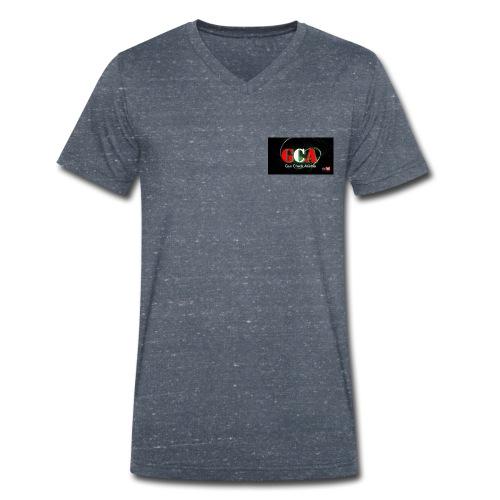 Gun Check Austria der österreichische Waffenkanal - Männer Bio-T-Shirt mit V-Ausschnitt von Stanley & Stella
