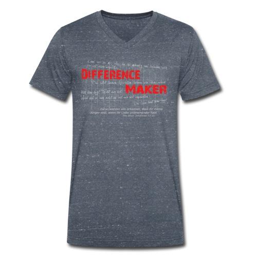 Difference Maker hell - Männer Bio-T-Shirt mit V-Ausschnitt von Stanley & Stella