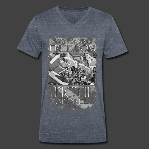 PICTFREE2b - BLACK & WHITE - Men's Organic V-Neck T-Shirt by Stanley & Stella