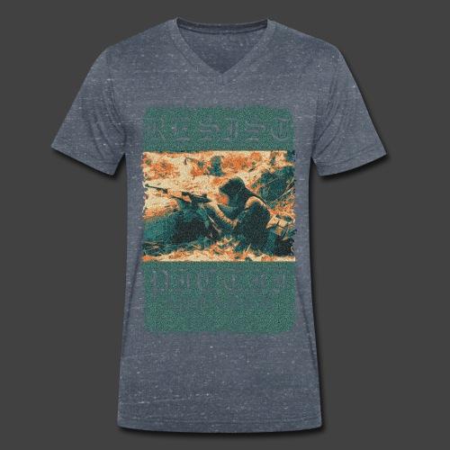 PICTRESIST7 - COL1 - Men's Organic V-Neck T-Shirt by Stanley & Stella