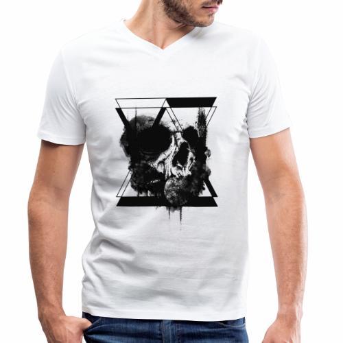 hourglass Skull - T-shirt ecologica da uomo con scollo a V di Stanley & Stella