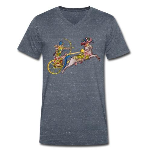 Pharao mit Streitwagen - Männer Bio-T-Shirt mit V-Ausschnitt von Stanley & Stella