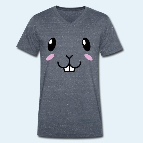Conejo bebé (Cachorros) - Camiseta ecológica hombre con cuello de pico de Stanley & Stella