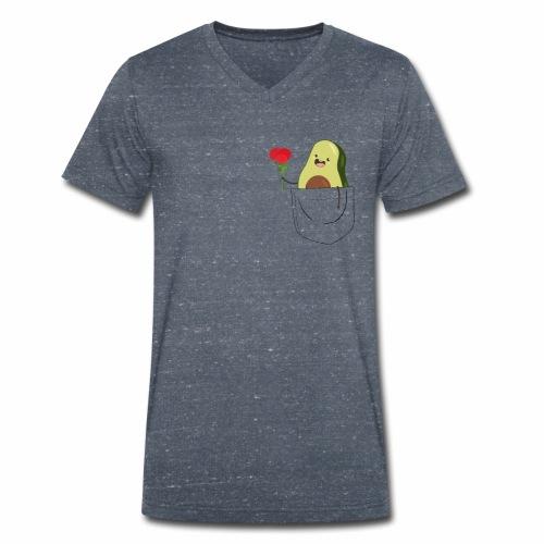 Brusttasche mit süßer Avocado T-Shirt - Männer Bio-T-Shirt mit V-Ausschnitt von Stanley & Stella