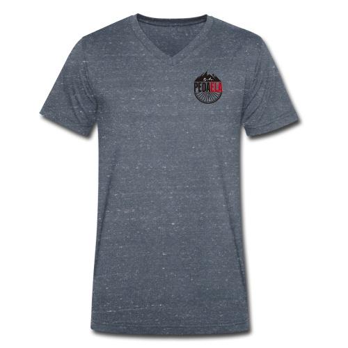 PEDAELA - Camiseta ecológica hombre con cuello de pico de Stanley & Stella