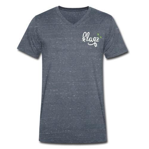 #kqz Seedling-Logo Weiß-Grün - Männer Bio-T-Shirt mit V-Ausschnitt von Stanley & Stella