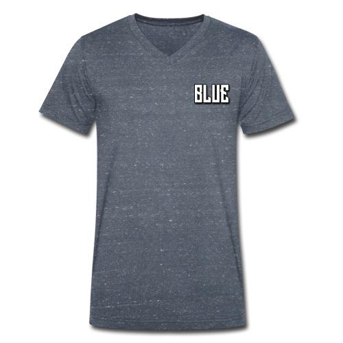 BLUE wit - Mannen bio T-shirt met V-hals van Stanley & Stella
