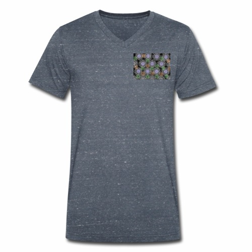Floral illusion - Men's Organic V-Neck T-Shirt by Stanley & Stella