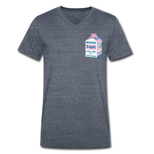 Missing : G-spot - Men's Organic V-Neck T-Shirt by Stanley & Stella