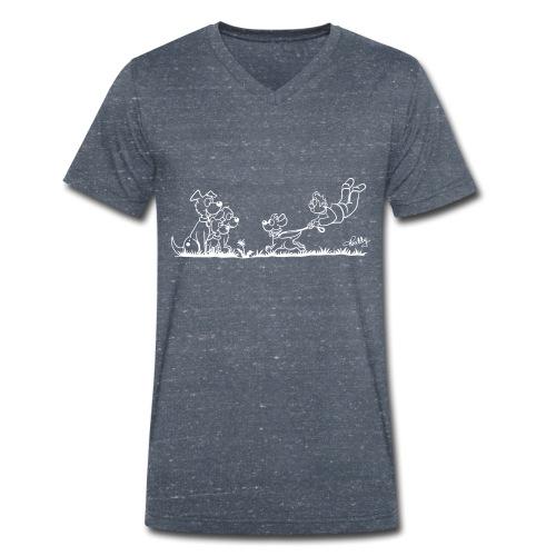 Gassigehen - Männer Bio-T-Shirt mit V-Ausschnitt von Stanley & Stella