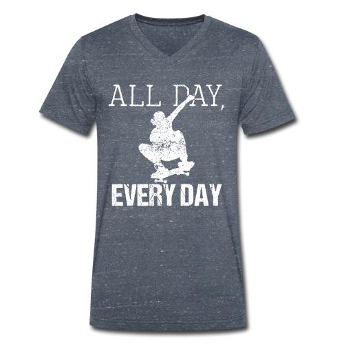 ALL DAY EVERY DAY | Skateboarding - Männer Bio-T-Shirt mit V-Ausschnitt von Stanley & Stella