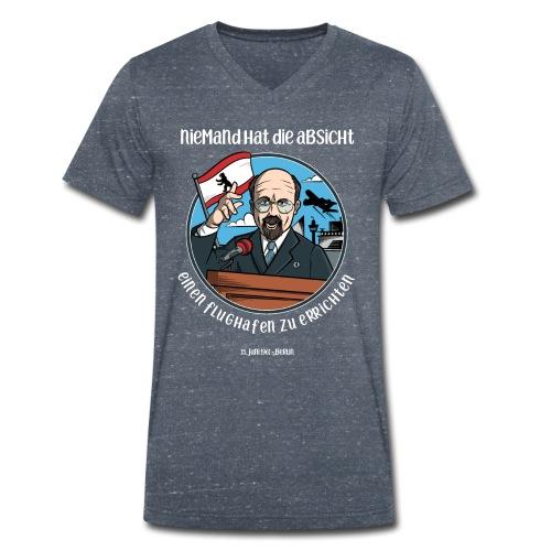 Niemand hat die Absicht einen Flughafen... Berlin - Männer Bio-T-Shirt mit V-Ausschnitt von Stanley & Stella
