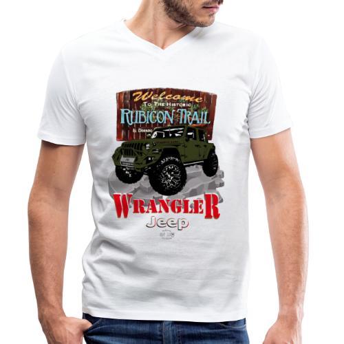WRANGLER Rubicon Trail - Camiseta ecológica hombre con cuello de pico de Stanley & Stella