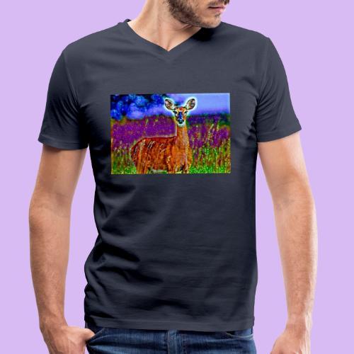 Cerbiatto con magici effetti - T-shirt ecologica da uomo con scollo a V di Stanley & Stella