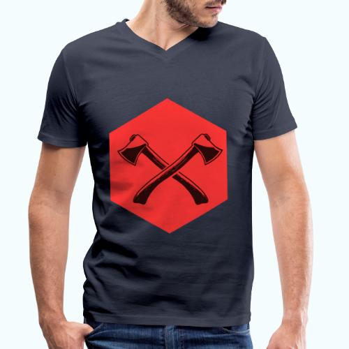 Hipster ax - Men's Organic V-Neck T-Shirt by Stanley & Stella