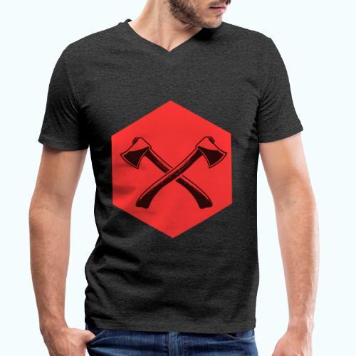 Hipster ax - Men's Organic V-Neck T-Shirt by Stanley & Stella