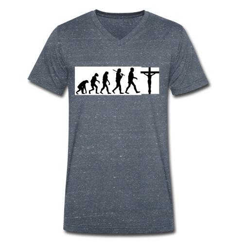 Evolution png - Männer Bio-T-Shirt mit V-Ausschnitt von Stanley & Stella