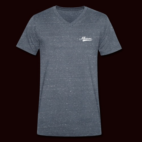 mechant_logo_white - T-shirt bio col V Stanley & Stella Homme
