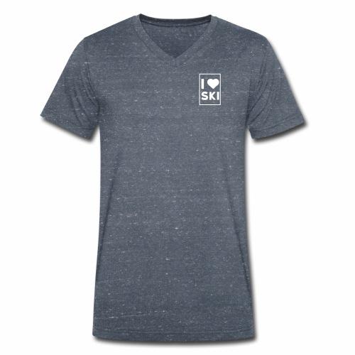 I love ski - T-shirt bio col V Stanley & Stella Homme