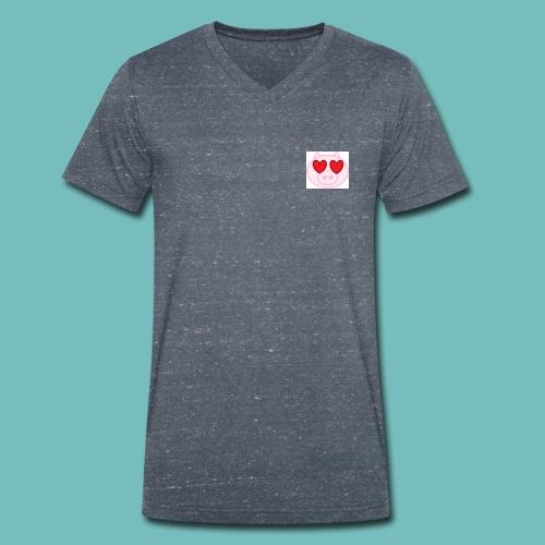 cerdito enamorado - Camiseta ecológica hombre con cuello de pico de Stanley & Stella
