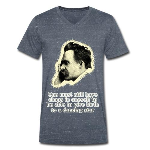 Nietzsche Meme - Men's Organic V-Neck T-Shirt by Stanley & Stella