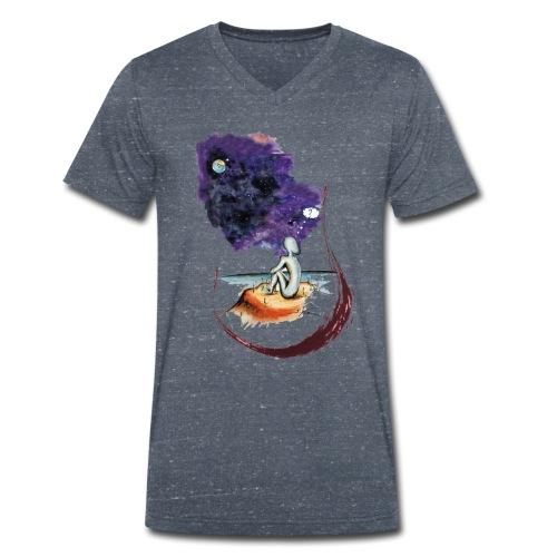 Extraterrestre en contemplation - T-shirt bio col V Stanley & Stella Homme