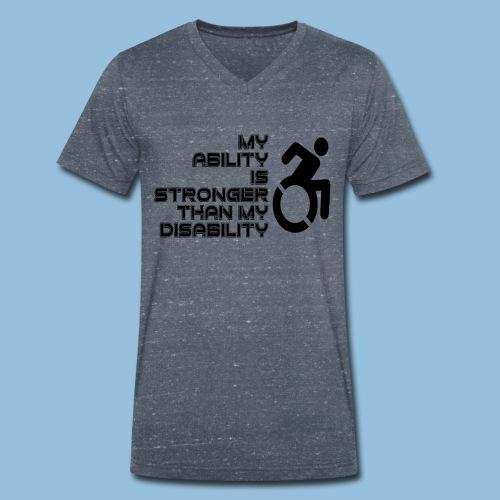 Ability1 - Mannen bio T-shirt met V-hals van Stanley & Stella