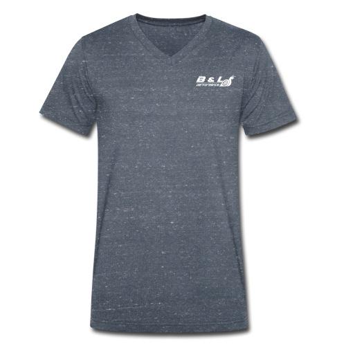 B&L Performance wit - Mannen bio T-shirt met V-hals van Stanley & Stella