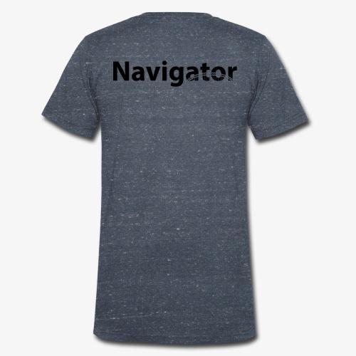 Navigator VIO combinatie zwart - Mannen bio T-shirt met V-hals van Stanley & Stella