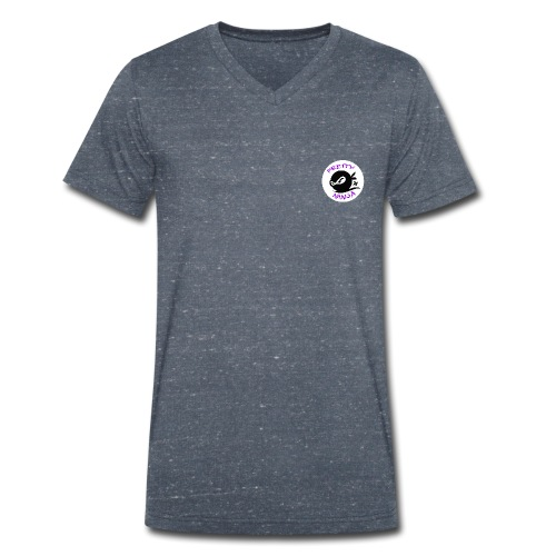 Official Pretty Ninja Logo - Men's Organic V-Neck T-Shirt by Stanley & Stella
