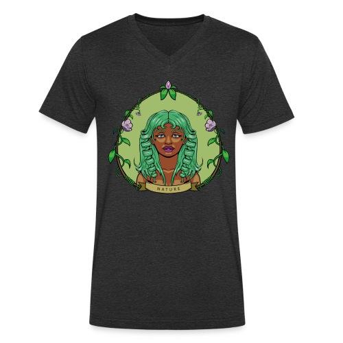 Mother Nature - Camiseta ecológica hombre con cuello de pico de Stanley & Stella