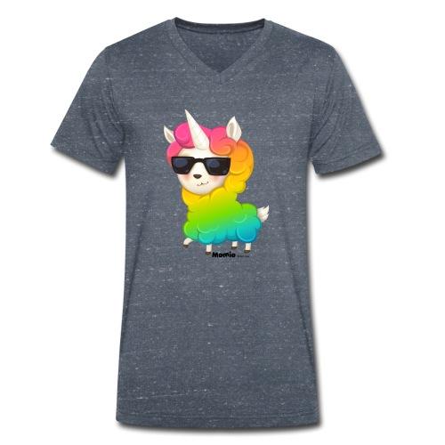 Regenbogenanimation - Männer Bio-T-Shirt mit V-Ausschnitt von Stanley & Stella