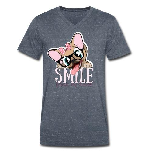 SMILE NAYA - T-shirt bio col V Stanley & Stella Homme