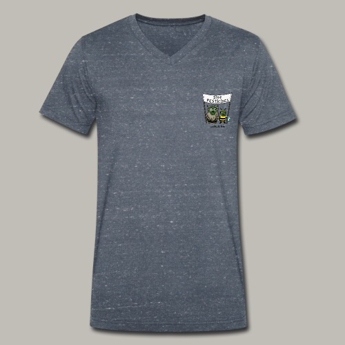 ecolOwl & Bee color - T-shirt bio col V Stanley & Stella Homme