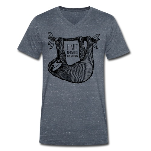 Le paresseux, animal, limit nervous breakdown - T-shirt bio col V Stanley & Stella Homme