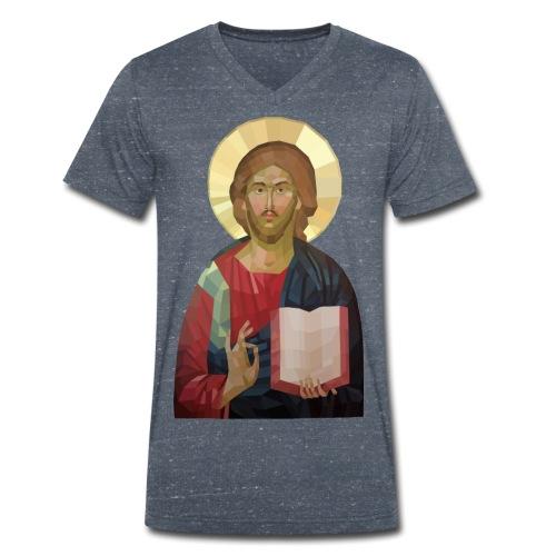 Abstract Jesus - Men's Organic V-Neck T-Shirt by Stanley & Stella